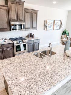 Tan Kitchen, Kitchen Island, Bloomfield Homes, Home Kitchens, New Homes, Brown, House, Home Decor, Island Kitchen