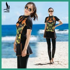 SHANQI Lycra Swimming Suit Ma'am Sandy Beach Trousers Conserva Show Cover belly Conservative Gather Together Swimwear