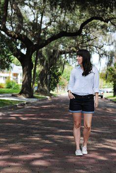Denim Maritime Shorts :: Dandelion Drift