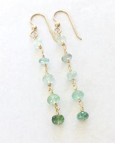 Gemstone Earrings, Crystal Earrings, Beaded Earrings, Earrings Handmade, Beaded Jewelry, Silver Earrings, Hoop Earrings, Handmade Jewellery, Gold Jewelry