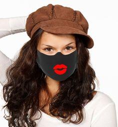 Funny Face Mask, Easy Face Masks, Diy Face Mask, Tapas, Fashion Face Mask, Diy Mask, Oils For Skin, Mask Design, Machine Embroidery Designs