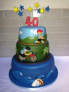 50. szülinapi triatlon torta