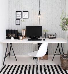 Image via We Heart It https://weheartit.com/entry/162076164 #blackandwhite #computer #decor #decoration #desk #desktop #girl #homeoffice #room