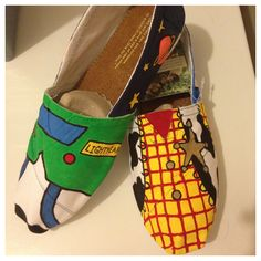 Toy Story Painted Shoes Toms available by SweetHeartShoes on Etsy, $90.00