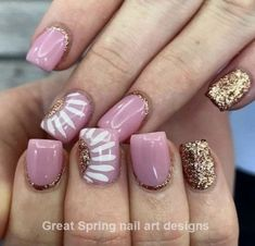 Nail art is a very popular trend these days and every woman you meet seems to have beautiful nails. It used to be that women would just go get a manicure or pedicure to get their nails trimmed and shaped with just a few coats of plain nail polish. Spring Nail Art, Nail Designs Spring, Spring Nails, Nail Art Designs, Pedicure Designs, Pedicure Ideas, Nail Art Ideas, Nail Designs With Gold, Cute Nails For Spring