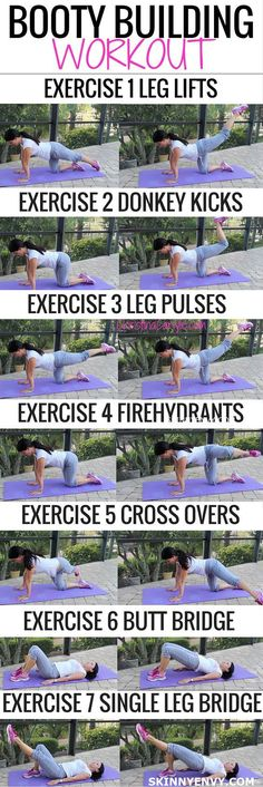 Butt Exercises that really work! Do them all for a complete booty building workout. VISIT skinnyenvy.com for more #buttlift #booty