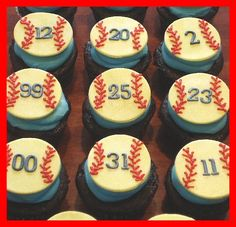 Cupcakes for Warren County Knockouts softball team by atasteofwhimsy, via Flickr