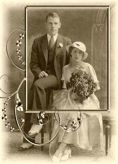 Classic vintage wedding photo