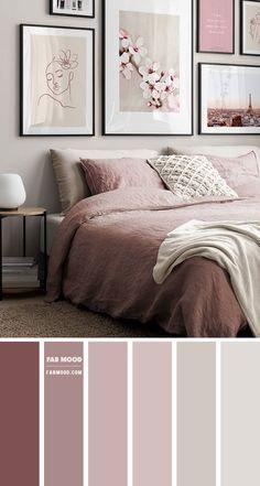 Romantic Bedroom Colors, Best Bedroom Colors, Bedroom Colour Palette, Bedroom Color Schemes, Bedroom Paint Colors, Relaxing Bedroom Colors, Beautiful Bedrooms For Couples, Romantic Bedrooms, Dusty Pink Bedroom