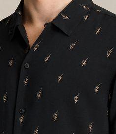 Hombre Cygnus Short Sleeve Shirt (Jet Black) - product_image_alt_text_2