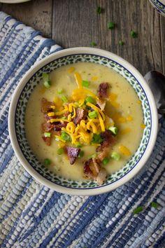 love potato soup, but this is not your average potato soup. It has ...