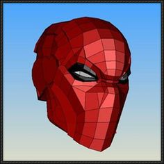 This papercraft is Red Hood's Helmet, created by Luisifer Chavez-Calderon. There is another version on the site: Red Hood Mask for Cosplay Papercraft. You