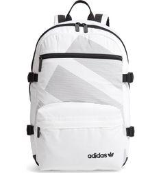 EQT Backpack, Main, color, WHITE/ BLACK Cool Backpacks For Men, Men's Backpacks, Stylish Backpacks, School Backpacks, Striped Backpack, Tote Backpack, Travel Backpack, Addidas Backpack, Mochila Adidas