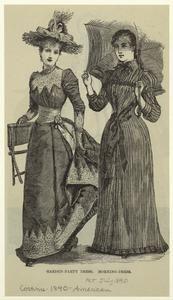 Garden-party dress ; Morning-dress. (1890)