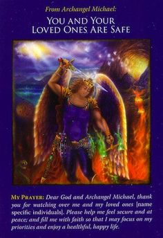 Archangel Michael Oracle Cards: Your Loved Ones Are Safe Doreen Virtue, Auras, Angel Protector, St. Michael, Archangel Prayers, Angel Guidance, I Believe In Angels, Spiritual Messages, Angels Among Us