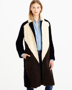 J. Crew Collection Shearling Coat | LuckyShops
