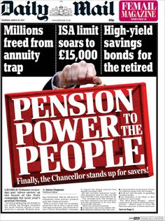 British papers are very excited about the government's new budget