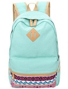 Leaper Canvas Backpacks School Backpack