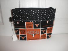 Texas Longhorns Gadget Bag by sewinit2atee on Etsy, $8.50