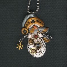 Fun polymer clay steampunk jewelry by  Darlene Hardenbrook
