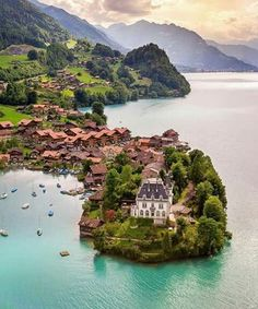 In Iseltwald, Switzerland.