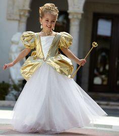 golden princess girls costume - Chasing Fireflies