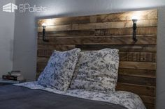 Tête De Lit / Pallet Bed Headboard DIY Pallet Bedroom - Pallet Bed Frames & Pallet Headboards