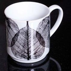 Gillian Arnold White Skeletal Leaves Stacking Mug
