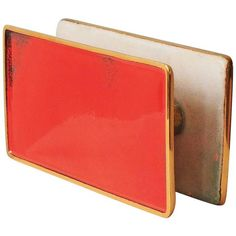 Gio Ponti Door Handles with Hand-Polished Enamel on Brass by Paolo De Poli | From a unique collection of antique and modern architectural-elements at https://www.1stdibs.com/furniture/building-garden/architectural-elements/