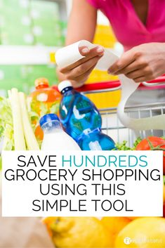 Want to save hundreds of dollars on your grocery bills each month? Check out this simple tool to help you start saving money now!