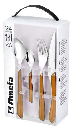 24 Piece, AMEFA ECLAT Cutlery Set, Stainless Steel, Different Colours | eBay