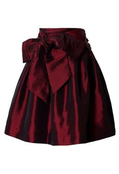 Bowknot Red Wine Full A-line Skirt