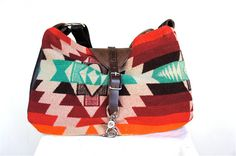 leather and native american pendleton. I love this OMG!