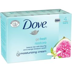 Dove go fresh Restore Beauty Bar 4 oz, 4 Bar ($5.39) ❤ liked on Polyvore featuring beauty products, bath & body products, body cleansers, accessories, bath & body, soap and bar soap