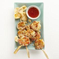 Saté udang Barbecue, Cauliflower, Shrimp, Meat, Vegetables, Ethnic Recipes, Food, Cauliflowers, Barbecue Pit