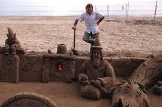 esculturas de arena en la playa - Buscar con Google