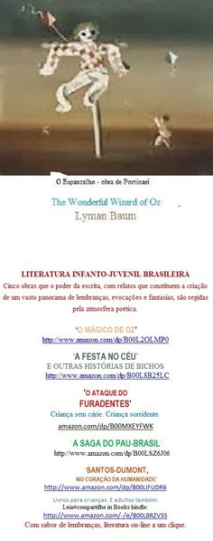 Lançamento Books kindle Edition:  http://www.amazon.com/dp/B00L2OLMP0     Leia#compartilhe:  O MÁGICO DE OZ                de Lyman Frank Baum  Não se trata apenas de uma tradução ou de adaptação de The Wonderful Wizard of Oz. Mas de uma tentativa de oferecer ao texto clássico, obra-prima da literatura universal, a dimensão de atualizada em português, mais de um século depois.
