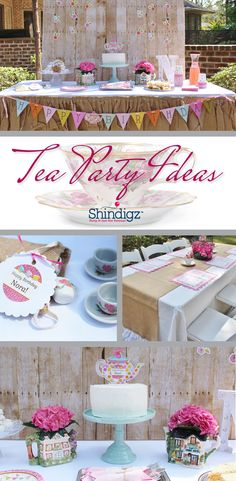 Check out the Tea Party styled by Crowning Details using Shindigz products! Explore all our girl birthday party ideas & save 10% promo code SZPINIT until 12/31/19 11:59 PM EST.