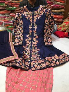Pakistani Dresses Casual, Indian Dresses, Indian Outfits, Embroidery Suits Punjabi, Embroidery Suits Design, Punjabi Fashion, Indian Fashion, Lehenga Choli, Red Lehenga