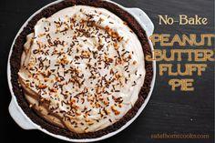 peanut butter fluff pie done
