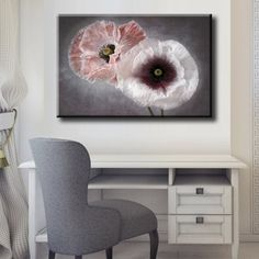 Large Size Box Framed Canvas Print Artwork Stretched Gallery Wrapped Wall Art Like Painting Hanging Original Decorative Modern Home & Living Decor Flower Plant Branch Nature Pink Gray Framed Canvas Prints, Artwork Prints, Canvas Frame, Poster Prints, Pink Grey, Gray, Box Frames, Home And Living, Planting Flowers