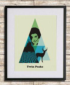 Twin Peaks Cartel A3 impresión por sanasini en Etsy
