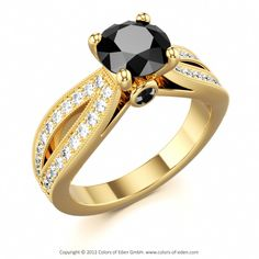 Black Diamond Engagement Ring... this is exactly what I want!!