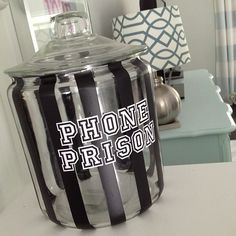 Crafty Teacher Lady: Cell Phone 'Prison' Jar 'How to'; educational craft project! Fun idea to corral your students' cell phones!