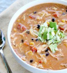 Recipe For  Crock Pot Chicken Enchilada Chowder