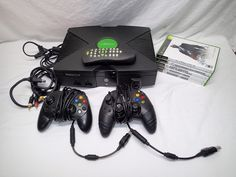 Original Xbox Console w/ 2 Controllers, 5 Games, Cords, DVD Kit! TESTED! #Microsoft