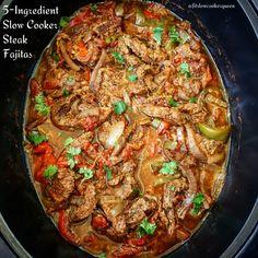 5-Ingredient Slow Cooker Steak Fajitas