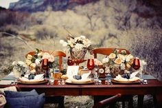"what a table! thanksgiving from ""honestly. Fresco, Fall Picnic, Autumn Table, Autumn Harvest, Fall Dinner, Outdoor Parties, Outdoor Events, Outdoor Entertaining, Autumn Inspiration"