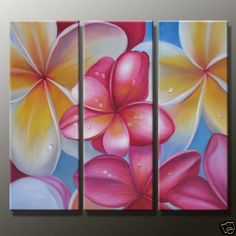 MODERN ABSTRACT ART OIL PAINTING ON CANVAS:FLOWER