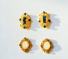4 pcs gold hollow nail charm by GlamourFavor on Etsy